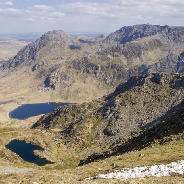 """Ogwen Valley Snowdonia"" stock image"