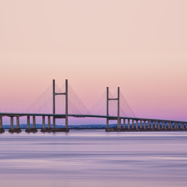 """Second Severn Crossing at Dawn"" stock image"