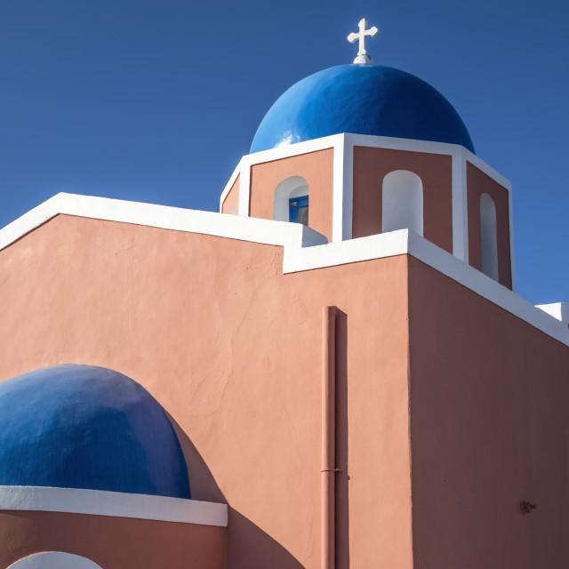 """""""Church in Oia - Santorini island Greece"""" stock image"""