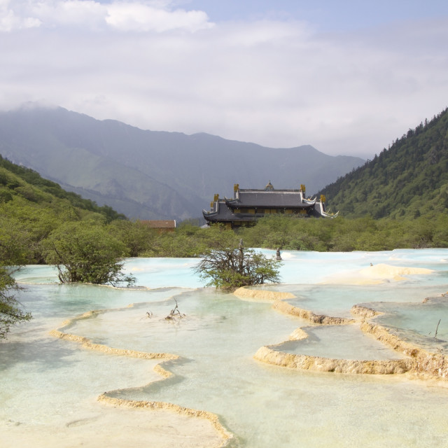 """Huanglong Scenic,Sichuan, China"" stock image"