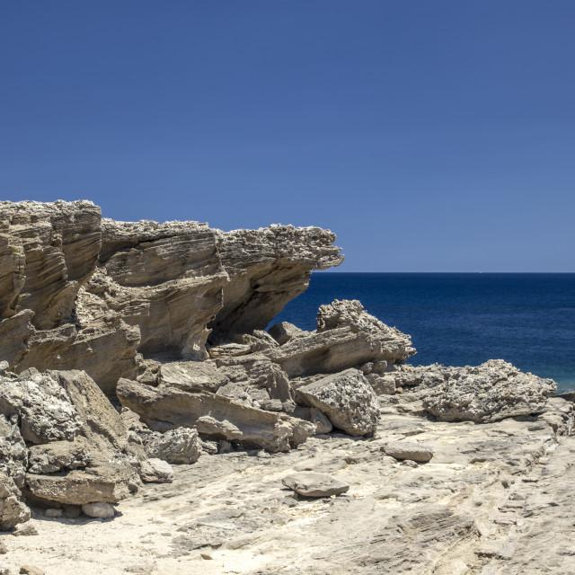 """Rhodes island coast"" stock image"