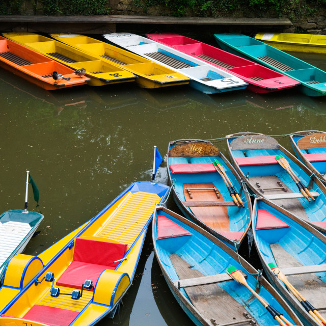 """Oxford Boats"" stock image"