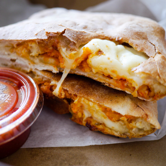"""Buff Chick Calzone"" stock image"