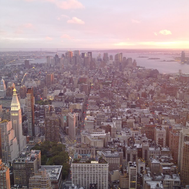 """""""New York view from Empire State Building"""" stock image"""
