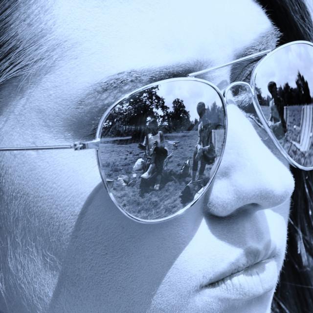 """Sunglasses Reflection"" stock image"