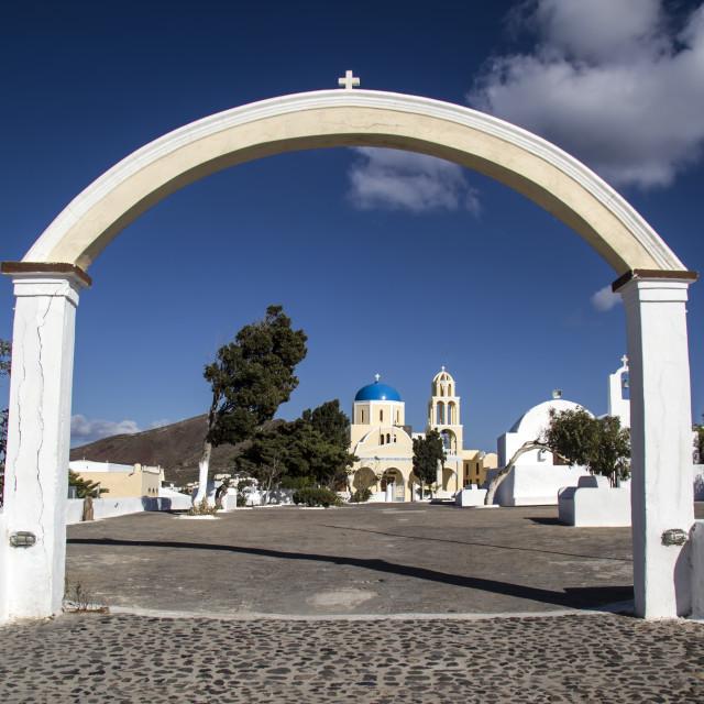 """Santorini Church"" stock image"
