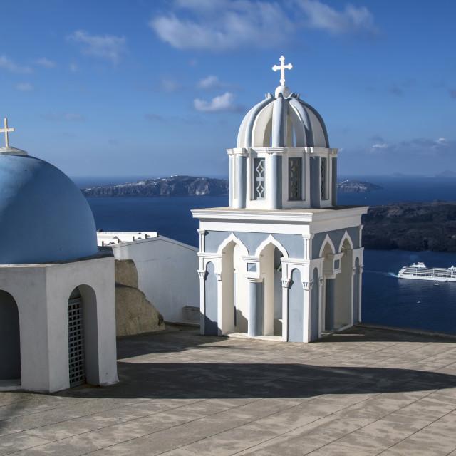 """Oia Church, Santorini"" stock image"