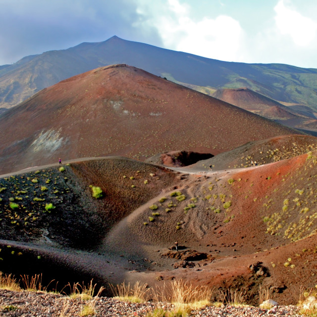 """Etna, first craters"" stock image"