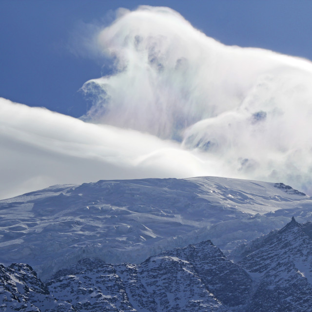 """Clouds over Mont Blanc"" stock image"
