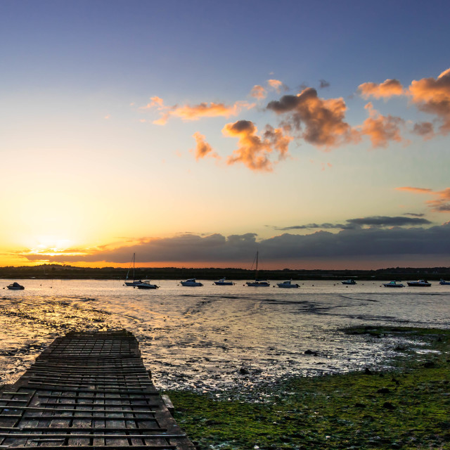"""""""Sunset at the old Jetty"""" stock image"""