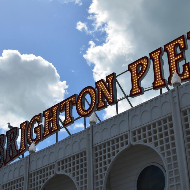 """""""Brighton pier."""" stock image"""