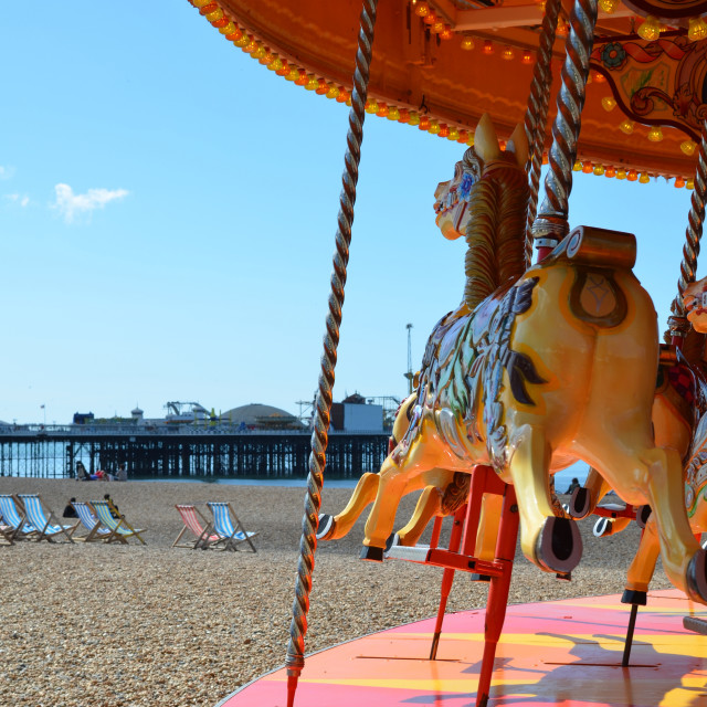 """""""Traditional merry go round"""" stock image"""