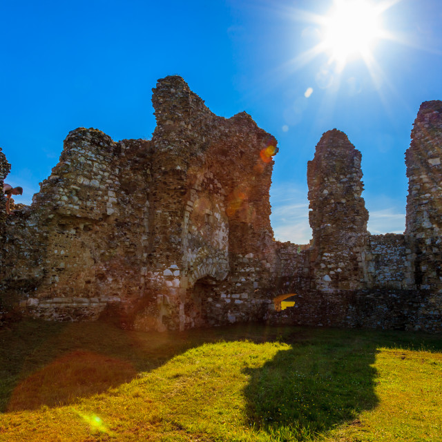 """A Sunburst At The Ruins"" stock image"
