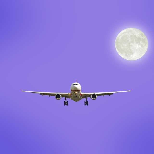 """airplane in sky"" stock image"