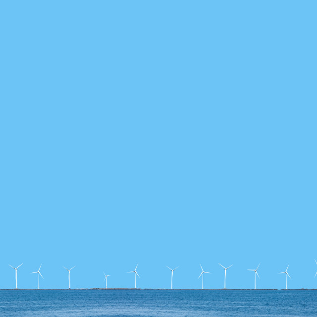"""Wind power turbines"" stock image"