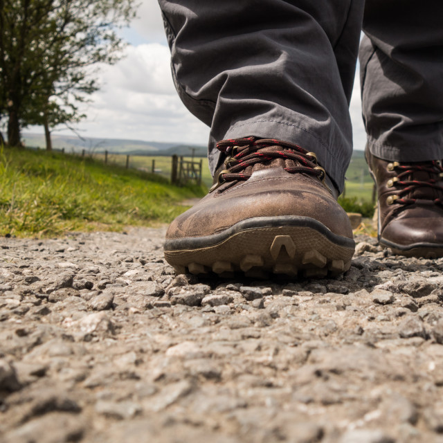 """Walking boots"" stock image"