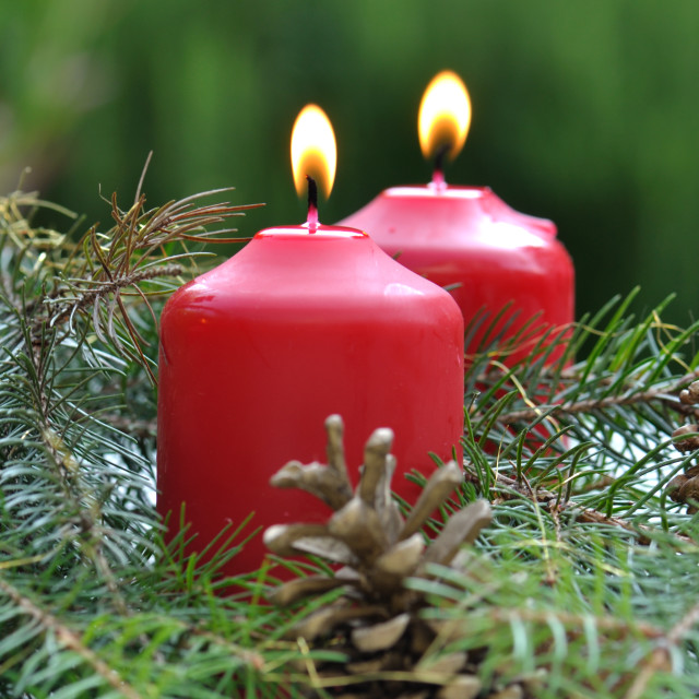 """candles for Christmas"" stock image"