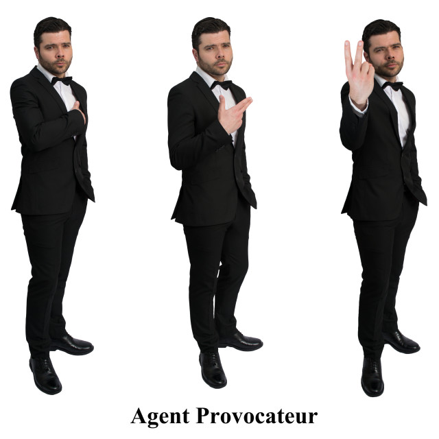 """Agent Provocateur"" stock image"