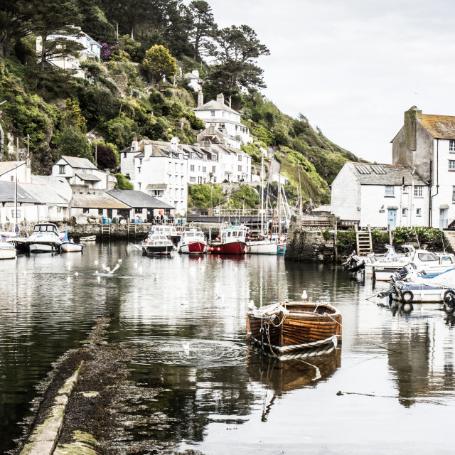 """Polperro, Cornwall (processed)"" stock image"
