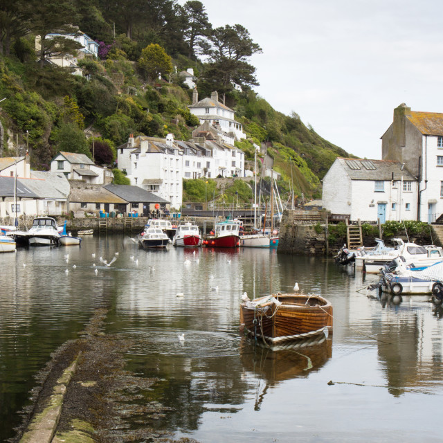 """Polperro, Cornwall"" stock image"