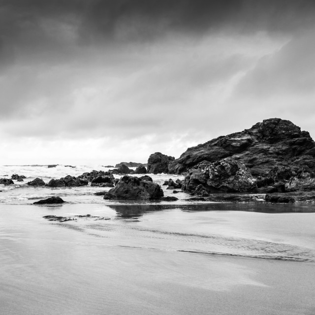 """Trevaunance Cove, Cornwall"" stock image"