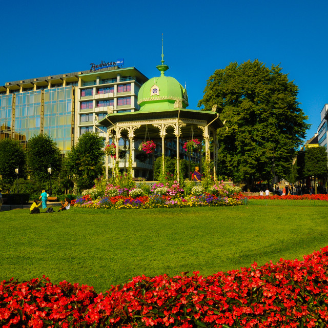 """""""Garden in Bergen"""" stock image"""