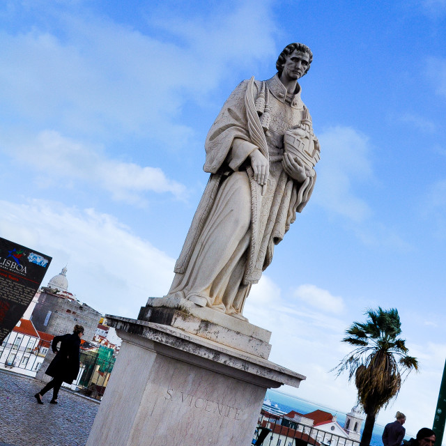 """""""Statue of St. Vincent"""" stock image"""