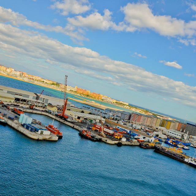 """Port in Gibraltar"" stock image"