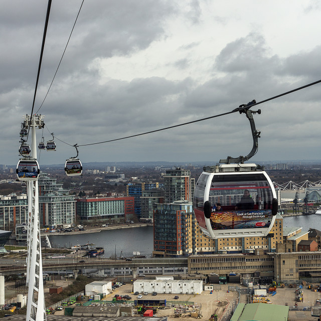 """Cable car 1"" stock image"