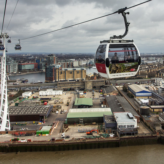 """Cable car 2"" stock image"