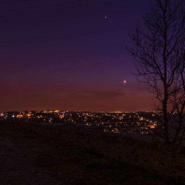 """Moon and Venus"" stock image"