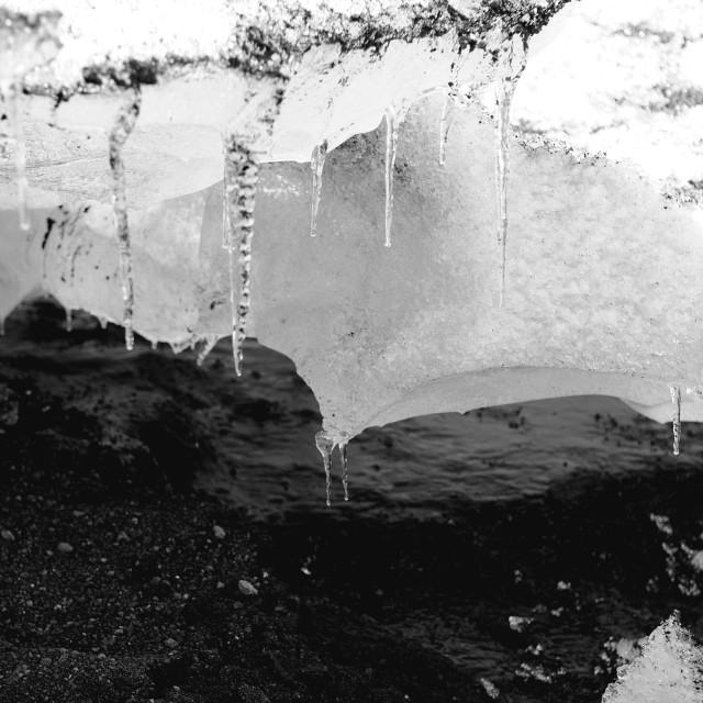 """Global warming glacier"" stock image"