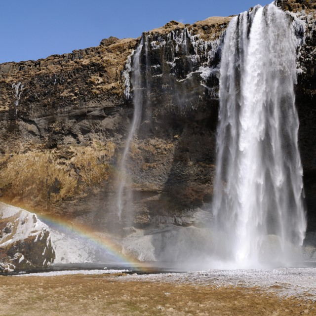 """Iceland Rainbow Falls"" stock image"