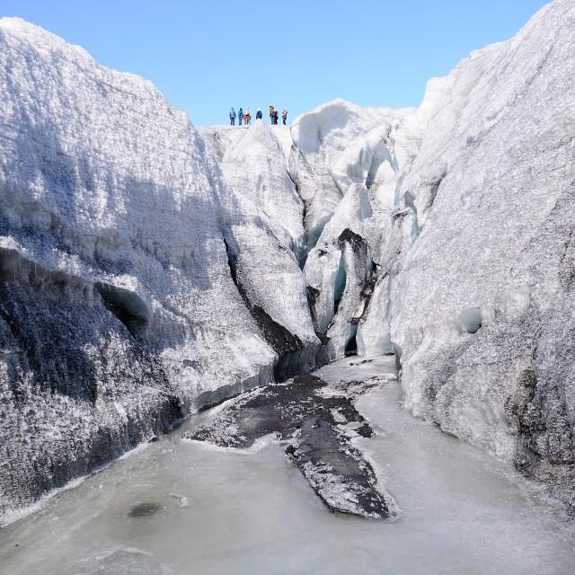 """Iceland Glacier Hike"" stock image"