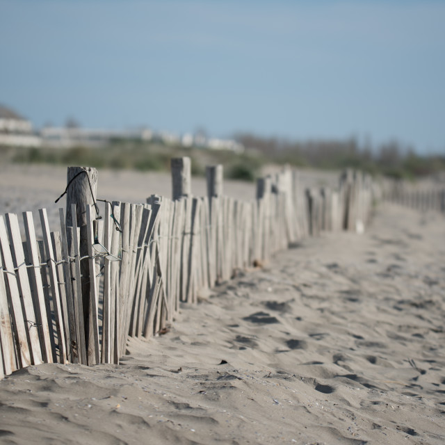 """""""Border in the beach"""" stock image"""
