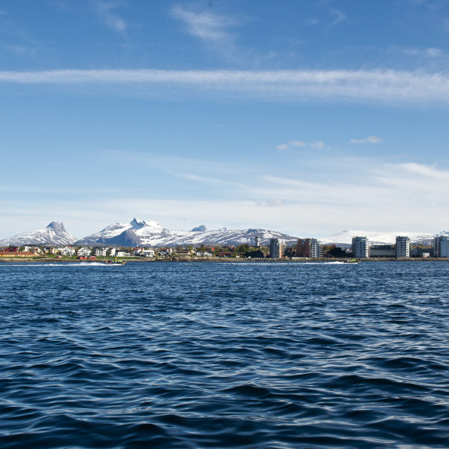 """""""Bodø seen from the oscean"""" stock image"""