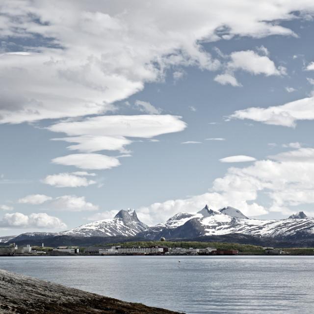 """""""Bodø between oscean and mountains"""" stock image"""