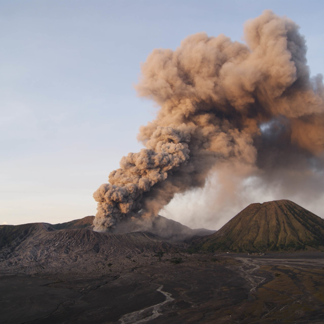 """Erupsion Mountain Bromo"" stock image"