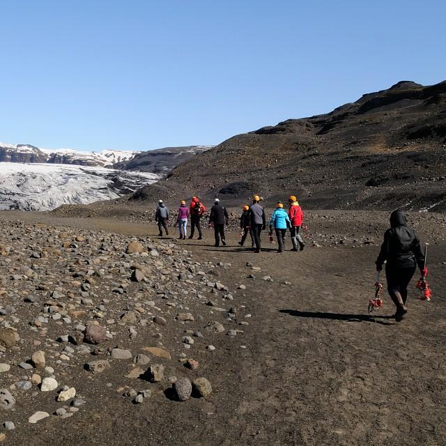 """Iceland glacier hike group"" stock image"