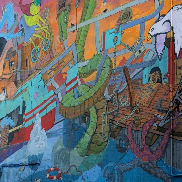 """Urban graffiti Iceland"" stock image"