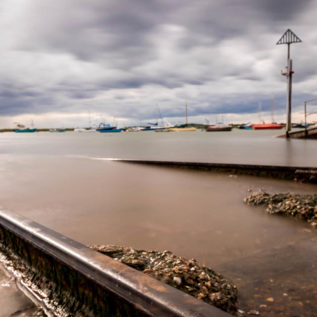 """Mersea Slipway"" stock image"