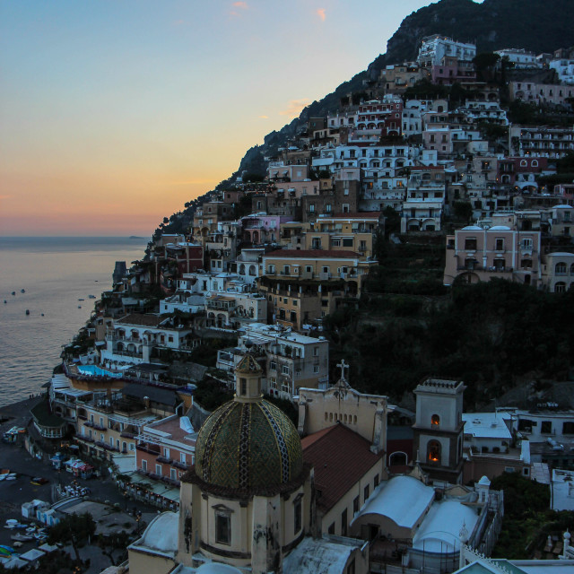 """Positano Sunset"" stock image"