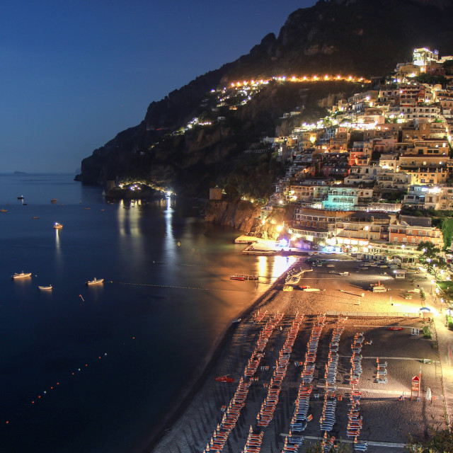 """Positano at Night"" stock image"
