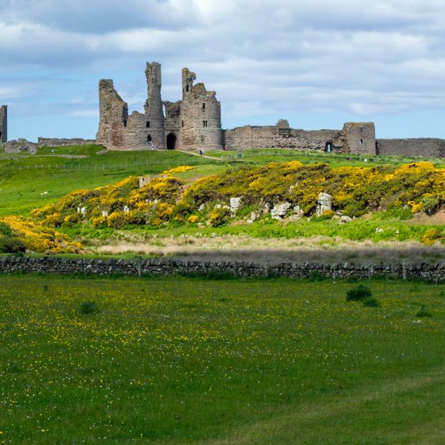 """Dunstanburgh Castle near Embleton"" stock image"