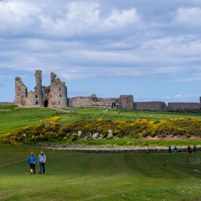 """""""Dunstanburgh Castle in Northumberland"""" stock image"""