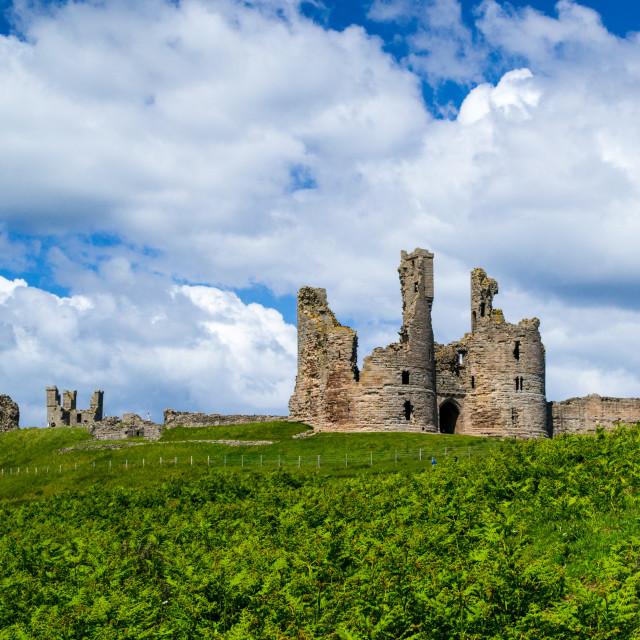"""""""Dunstanburgh Castle entrance"""" stock image"""
