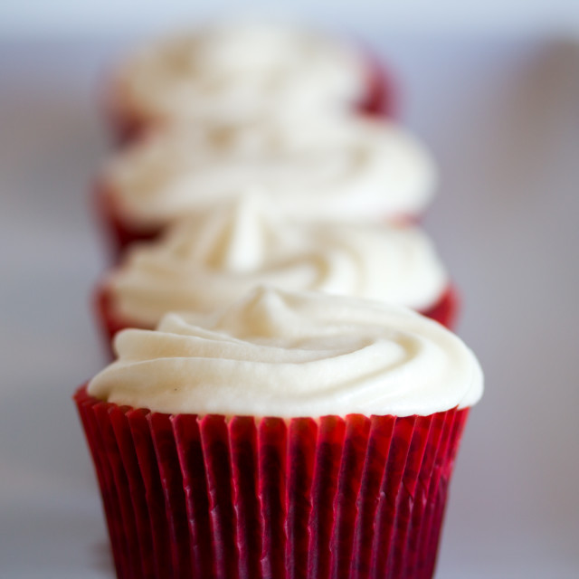 """cupcakes in red"" stock image"