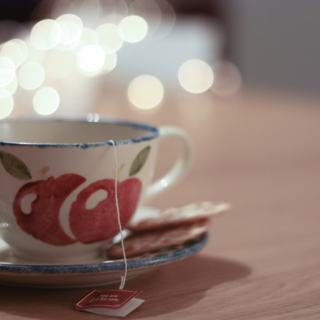 """a cup of tea"" stock image"