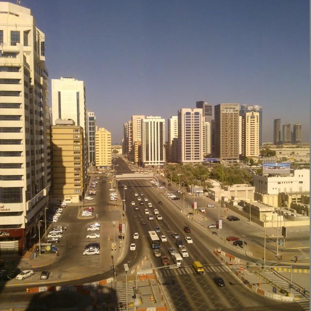 """Abu Dhabi streetview"" stock image"