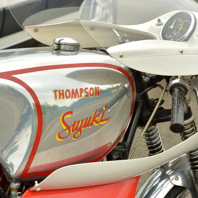 """Classic racing bikes"" stock image"